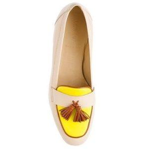 J. Crew Biella Tassel Loafers Colorblock 9